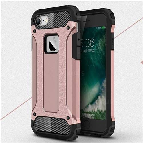 King Kong Armor Premium Shockproof Dual Layer Rugged Hard Cover for iPhone 6s 6 6G(4.7 inch) - Rose Gold
