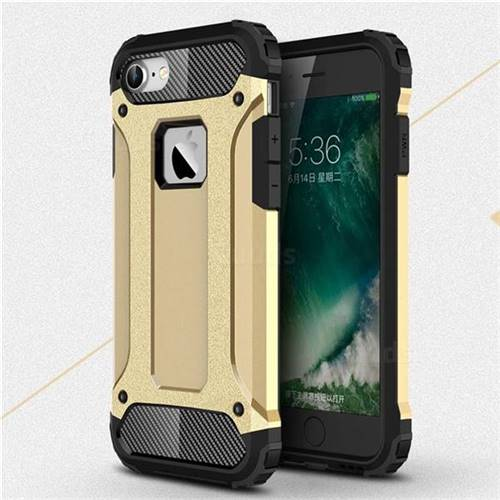 King Kong Armor Premium Shockproof Dual Layer Rugged Hard Cover for iPhone 6s 6 6G(4.7 inch) - Champagne Gold