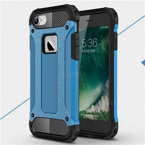 King Kong Armor Premium Shockproof Dual Layer Rugged Hard Cover for iPhone 6s 6 6G(4.7 inch) - Sky Blue