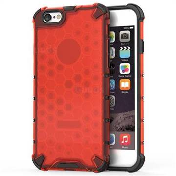 Honeycomb TPU + PC Hybrid Armor Shockproof Case Cover for iPhone 6s 6 6G(4.7 inch) - Red