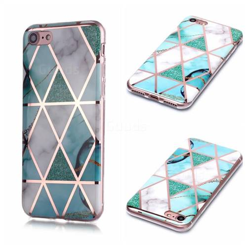 Green White Galvanized Rose Gold Marble Phone Back Cover for iPhone 6s 6 6G(4.7 inch)