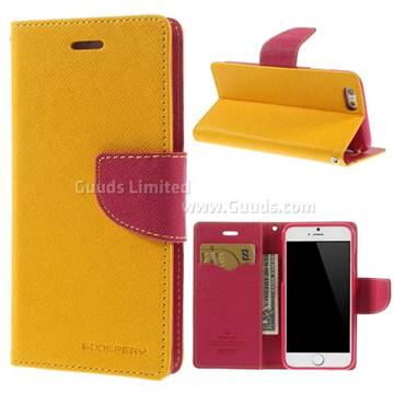 wholesale dealer c4598 5e195 Mercury Goospery Fancy Diary Leather Case for iPhone 6 (4.7 inch) - Yellow  - Leather Case - Guuds