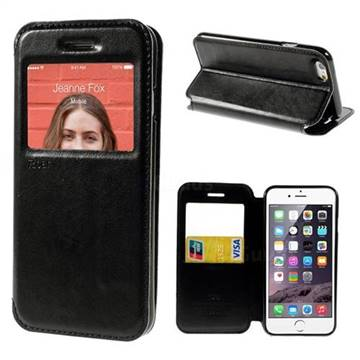 Roar Korea Noble View Window Leather Case for iPhone 6 (4.7 inch) - Black