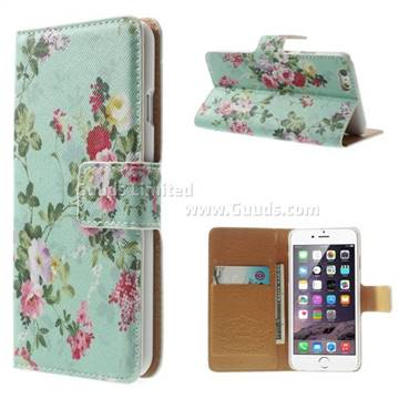 newest 6c7cd 36d90 Cross Pattern Cute Flowers Leather Wallet Case for iPhone 6 (4.7 inch) - -  Guuds