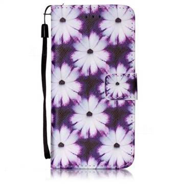 Purple Chrysanthemums Leather Wallet Case for iPhone 6s 6 (4.7 inch)