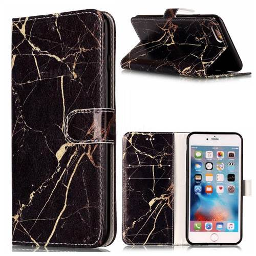 Black Gold Marble PU Leather Wallet Case for iPhone 6s 6 (4.7 inch)