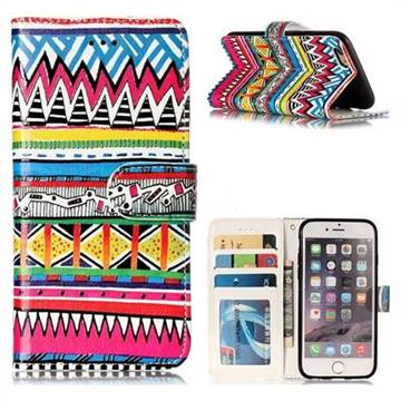 Tribal Pattern 3D Relief Oil PU Leather Wallet Case for iPhone 6s 6 6G(4.7 inch)