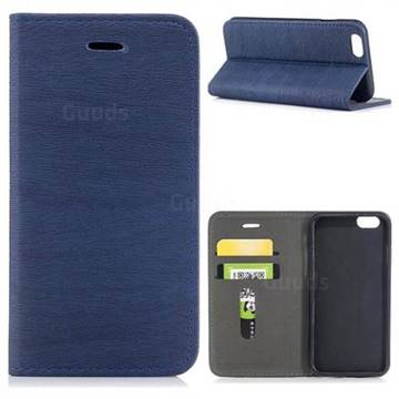 Tree Bark Pattern Automatic suction Leather Wallet Case for iPhone 6s 6 6G(4.7 inch) - Blue