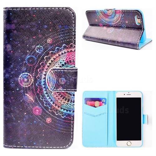 Universe Mandala Flower Stand Leather Wallet Case for iPhone 6s 6 6G(4.7 inch)