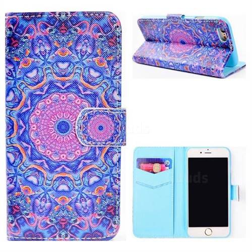 Purple Mandala Flower Stand Leather Wallet Case for iPhone 6s 6 6G(4.7 inch)