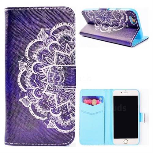 Half Lace Mandala Flower Stand Leather Wallet Case for iPhone 6s 6 6G(4.7 inch)