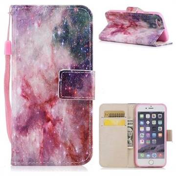 Cosmic Stars PU Leather Wallet Case for iPhone 6s 6 6G(4.7 inch)