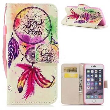 Feather Wind Chimes PU Leather Wallet Case for iPhone 6s 6 6G(4.7 inch)