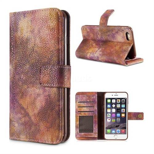 Luxury Retro Forest Series Leather Wallet Case for iPhone 6s 6 6G(4.7 inch) - Purple
