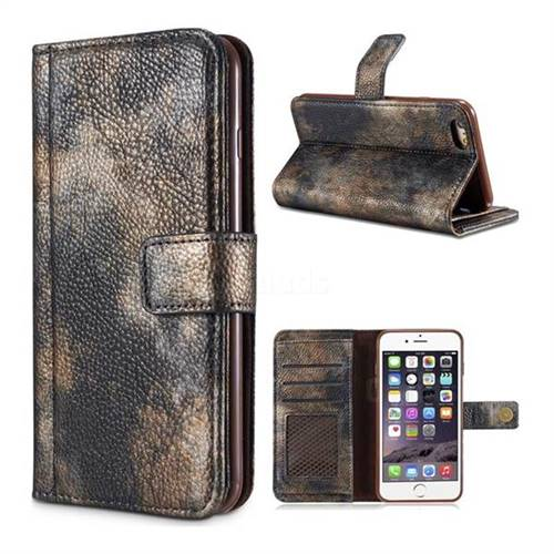 Luxury Retro Forest Series Leather Wallet Case for iPhone 6s 6 6G(4.7 inch) - Grey