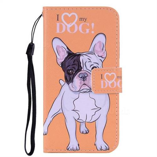 Love Dog PU Leather Wallet Phone Case Cover for iPhone 6s 6 6G(4 7 inch)