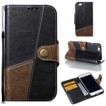 Retro Magnetic Stitching Wallet Flip Cover for iPhone 6s 6 6G(4.7 inch) - Dark Gray