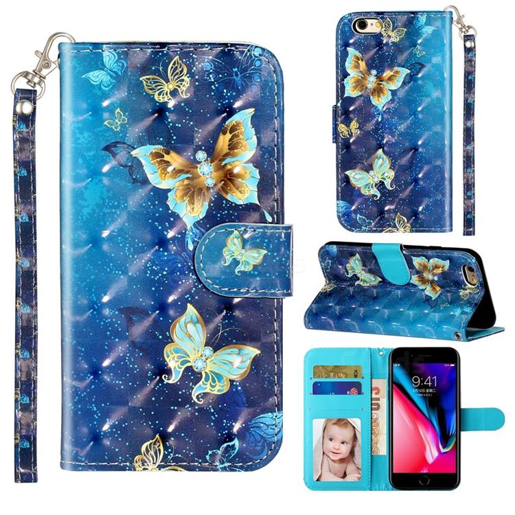 Rankine Butterfly 3D Leather Phone Holster Wallet Case for iPhone 6s 6 6G(4.7 inch)