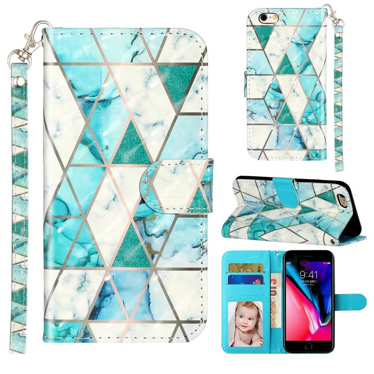 Stitching Marble 3D Leather Phone Holster Wallet Case for iPhone 6s 6 6G(4.7 inch)