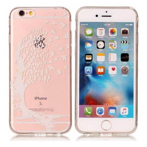 Bird Skull Face Super Clear Soft TPU Back Cover for iPhone 6s Plus / 6 Plus 6P(5.5 inch)