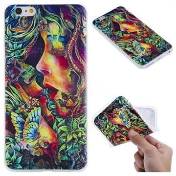 Butterfly Kiss 3D Relief Matte Soft TPU Back Cover for iPhone 6s Plus / 6 Plus 6P(5.5 inch)