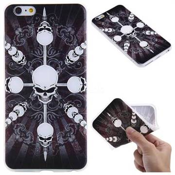 Compass Skulls 3D Relief Matte Soft TPU Back Cover for iPhone 6s Plus / 6 Plus 6P(5.5 inch)