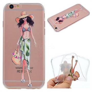 Bikini Girl Super Clear Soft TPU Back Cover for iPhone 6s Plus / 6 Plus 6P(5.5 inch)