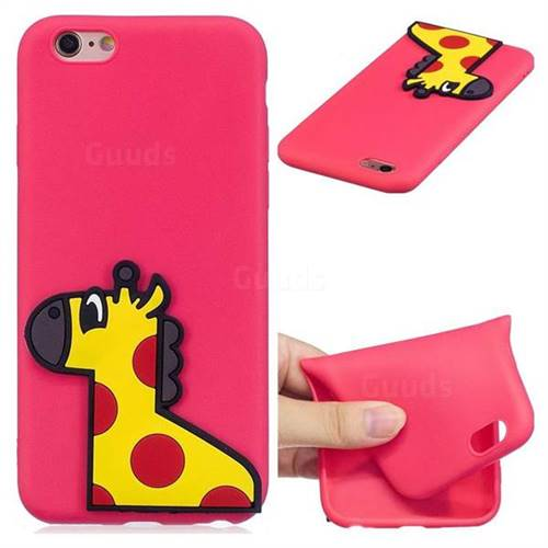 Yellow Giraffe Soft 3D Silicone Case for iPhone 6s Plus / 6 Plus 6P(5.5 inch)