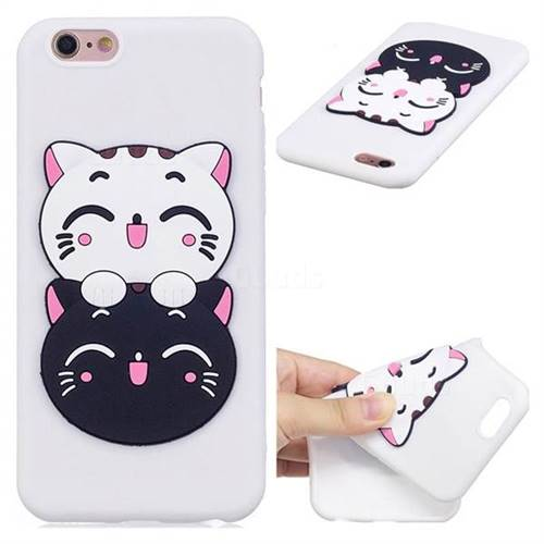 Couple Cats Soft 3D Silicone Case for iPhone 6s Plus / 6 Plus 6P(5.5 inch)