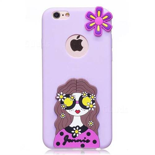 detailed look 3824a f7d0c Violet Girl Soft 3D Silicone Case for iPhone 6s Plus / 6 Plus 6P(5.5 inch)