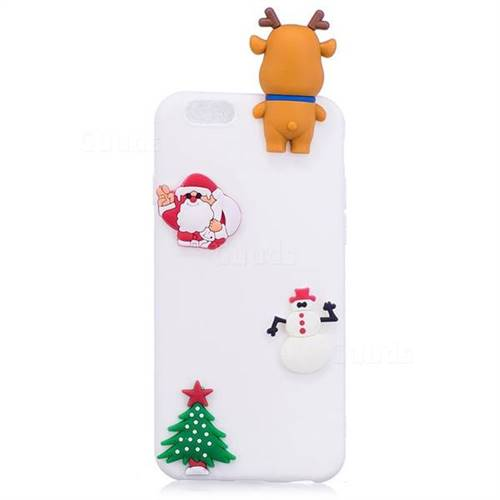 white elk christmas xmax soft 3d silicone case for iphone 6s plus 6 plus 6p