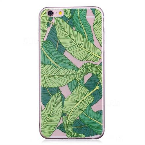 Banana Green Leaves Super Clear Soft Tpu Back Cover For Iphone 6s