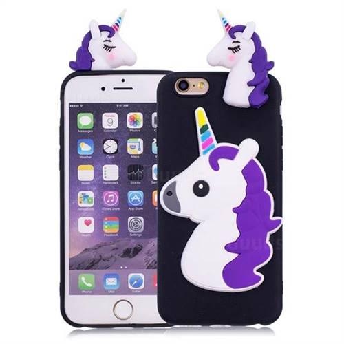 Unicorn Soft 3D Silicone Case for iPhone 6s Plus / 6 Plus 6P(5.5 inch) - Black