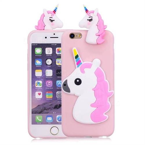 sale retailer 3811f 0c022 Unicorn Soft 3D Silicone Case for iPhone 6s Plus / 6 Plus 6P(5.5 inch) -  Pink
