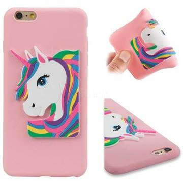 buy popular 4c8a8 f4e83 Rainbow Unicorn Soft 3D Silicone Case for iPhone 6s Plus / 6 Plus 6P(5.5  inch) - Pink