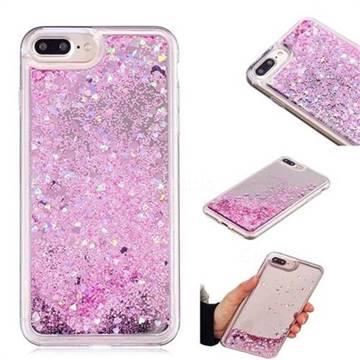 Glitter Sand Mirror Quicksand Dynamic Liquid Star TPU Case for iPhone 6s Plus / 6 Plus 6P(5.5 inch) - Cherry Pink