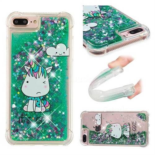 Tiny Unicorn Dynamic Liquid Glitter Sand Quicksand Star TPU Case for iPhone 6s Plus / 6 Plus 6P(5.5 inch)