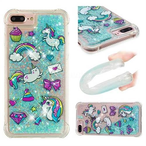 Fashion Unicorn Dynamic Liquid Glitter Sand Quicksand Star TPU Case for iPhone 6s Plus / 6 Plus 6P(5.5 inch)