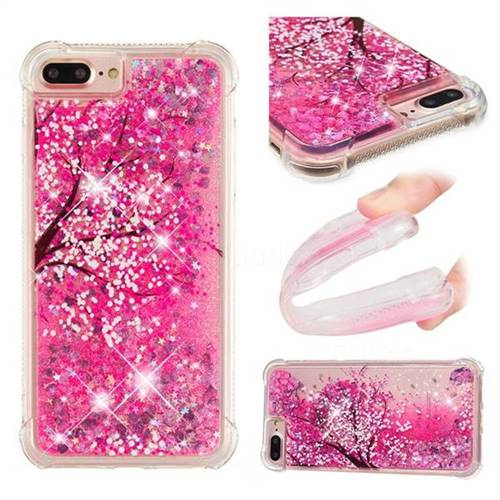 Pink Cherry Blossom Dynamic Liquid Glitter Sand Quicksand Star TPU Case for iPhone 6s Plus / 6 Plus 6P(5.5 inch)