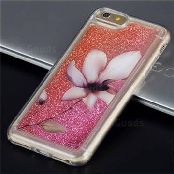 Lotus Glassy Glitter Quicksand Dynamic Liquid Soft Phone Case for iPhone 6s Plus / 6 Plus 6P(5.5 inch)