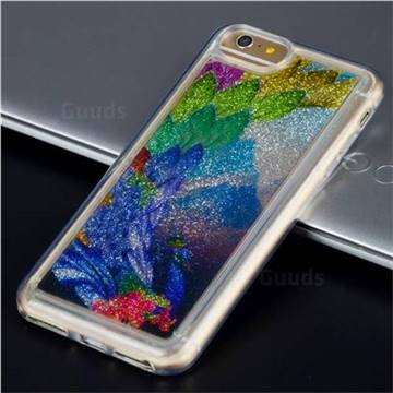 Phoenix Glassy Glitter Quicksand Dynamic Liquid Soft Phone Case for iPhone 6s Plus / 6 Plus 6P(5.5 inch)