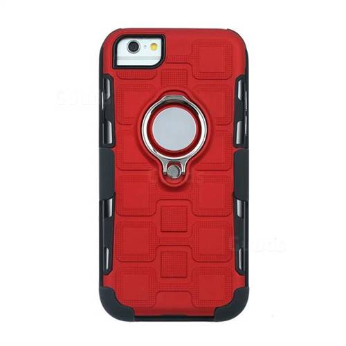 promo code 6d7d6 792fc 3 in 1 PC + Silicone Leather Phone Case for iPhone 6s Plus / 6 Plus 6P(5.5  inch) - Red