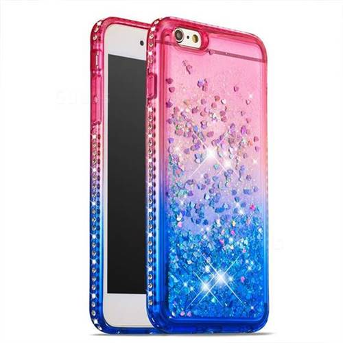 new product d0110 01ec8 Diamond Frame Liquid Glitter Quicksand Sequins Phone Case for iPhone 6s  Plus / 6 Plus 6P(5.5 inch) - Pink Blue