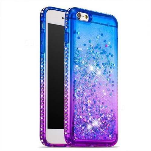 reputable site 67e48 2dc5b Diamond Frame Liquid Glitter Quicksand Sequins Phone Case for iPhone 6s  Plus / 6 Plus 6P(5.5 inch) - Blue Purple