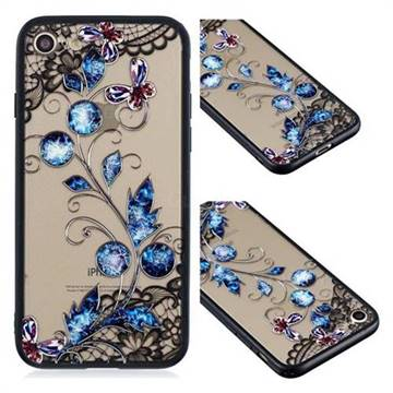 Butterfly Lace Diamond Flower Soft TPU Back Cover for iPhone 6s Plus / 6 Plus 6P(5.5 inch)