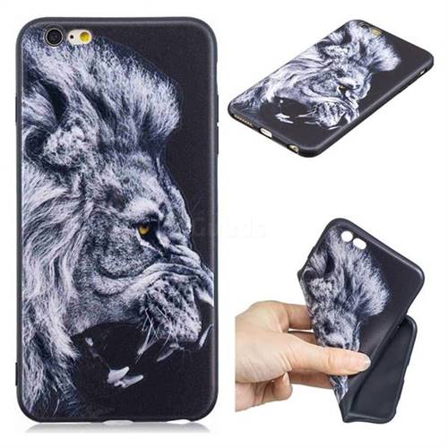 Lion 3D Embossed Relief Black TPU Cell Phone Back Cover for iPhone 6s Plus / 6 Plus 6P(5.5 inch)