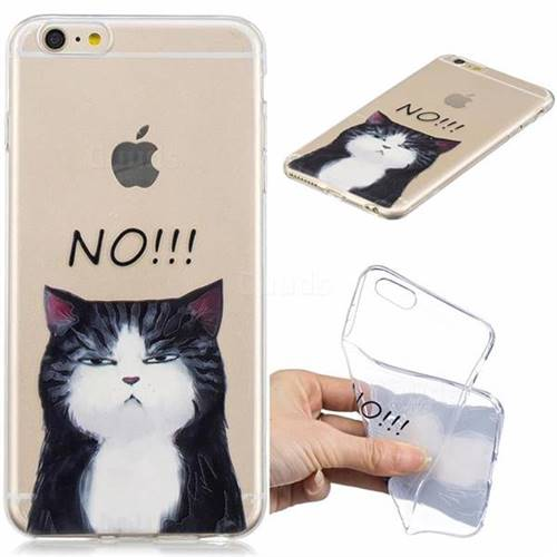 No Cat Clear Varnish Soft Phone Back Cover for iPhone 6s Plus / 6 Plus 6P(5.5 inch)
