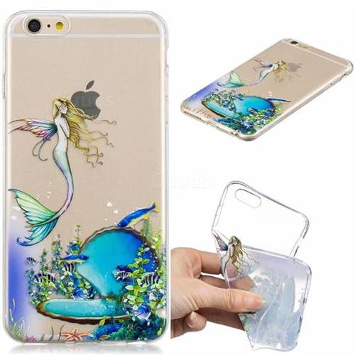 Mermaid Clear Varnish Soft Phone Back Cover for iPhone 6s Plus / 6 Plus 6P(5.5 inch)