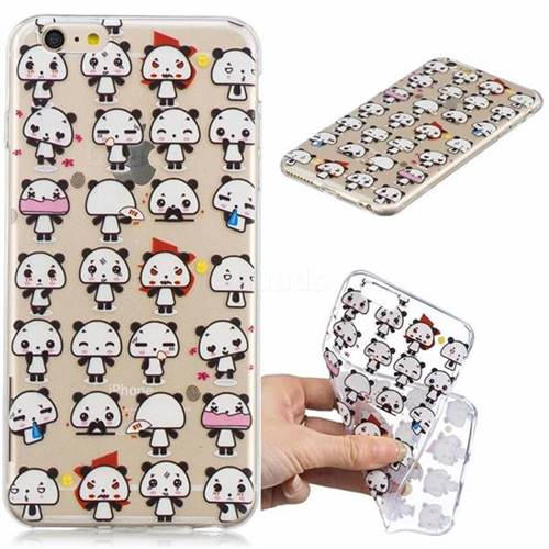 Mini Panda Clear Varnish Soft Phone Back Cover for iPhone 6s Plus / 6 Plus 6P(5.5 inch)