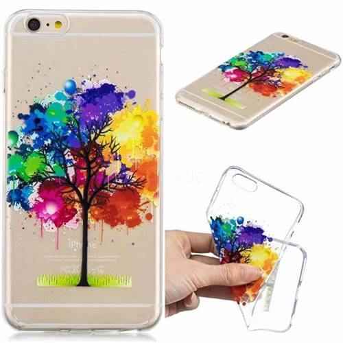 Oil Painting Tree Clear Varnish Soft Phone Back Cover for iPhone 6s Plus / 6 Plus 6P(5.5 inch)